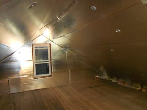 A Andover attic with SuperAttic installed.
